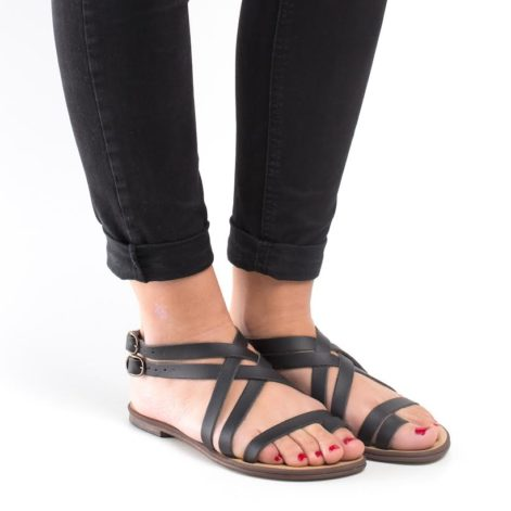 strappy vegan flat sandals
