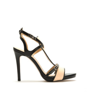 JEUNE stiletto in organic cotton and plantleather 01
