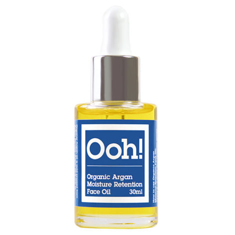 ooh oils of heaven organic argan moisture retention face oil 30 ml