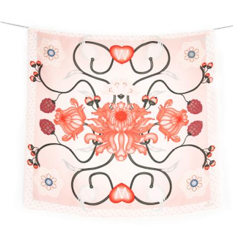 spring roar scarf