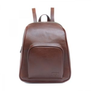 Leia - Brown Backpack With Two Zippers