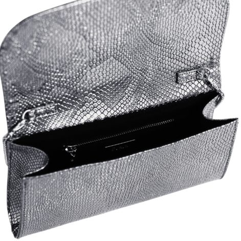 silver vegan bag