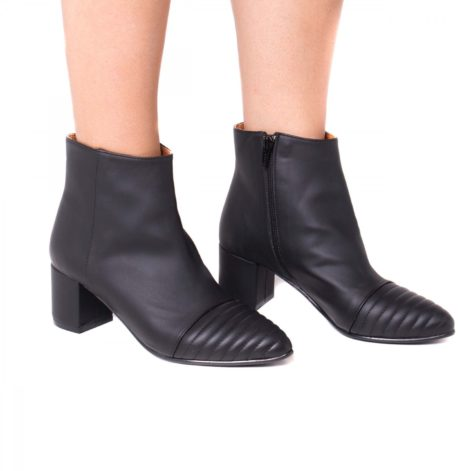 Marta Vegan Ankle Boot In Black