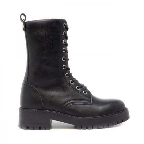 black Vegan lace-up boots