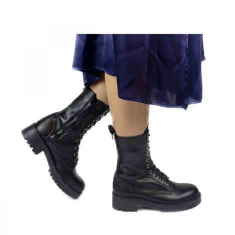 Vegan lace-up boots